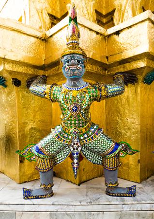 Statue of demon at Grand Palace  Wat Phra Kaew , Thailand photo