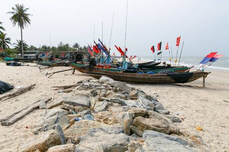 fishingboats: Fishing Boats on the beach in holiday