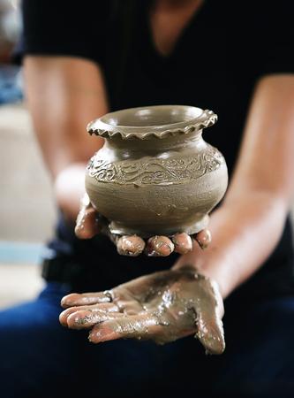 Handcraft Molding clay vase