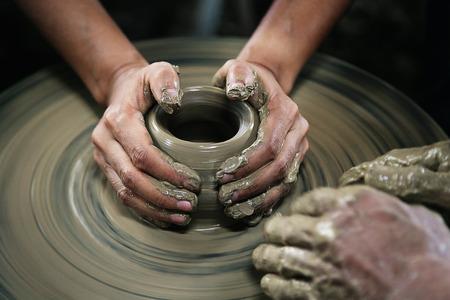 handcarves: Handcraft Molding clay vase