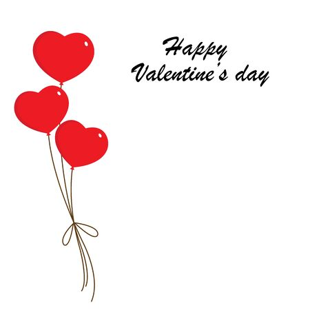 love card with heart balloons Vetores