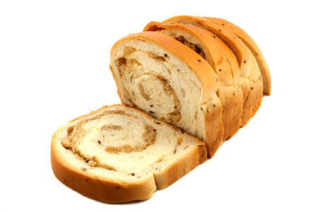 Pork bread on white background  photo
