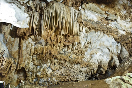 Beautiful stalactite cave in Chiang Dao, Chiangmai, Thailand  photo