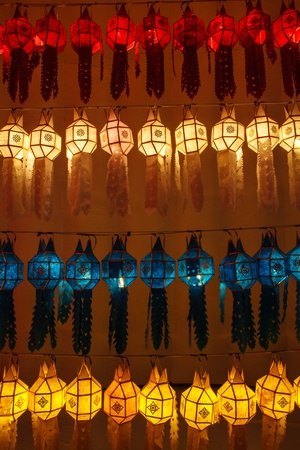 Thai lanterns in Lantern Festival, Chiang Mai, Thailand. photo