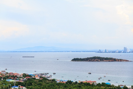 Beautiful scenery and landscapes of the sea around Koh Larn, Pattaya, Thailand  photo