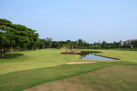 A beautiful golf course in Chiang Mai, Thailand