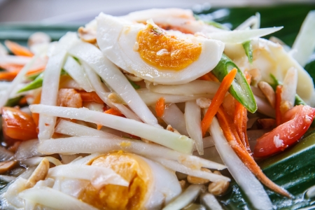 Thai Food   Papaya salad Thailand call is  Somtam  photo