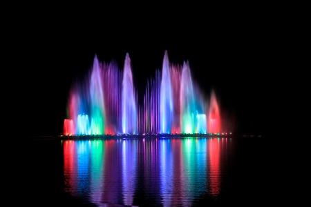The beautiful dancing fountains, Chiang Mai, Thailand. Stock fotó