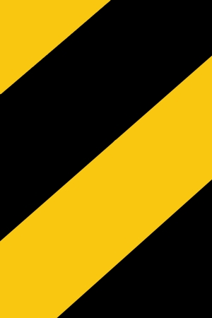 Yellow and black warning signs to watch out for. Banco de Imagens