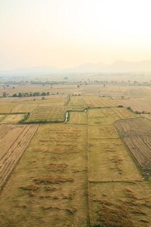 Large fields of birdeye view, Kanchanaburi, Thailand. photo