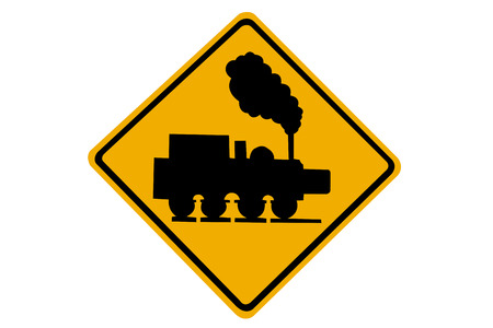 Railroad crossing sign  photo