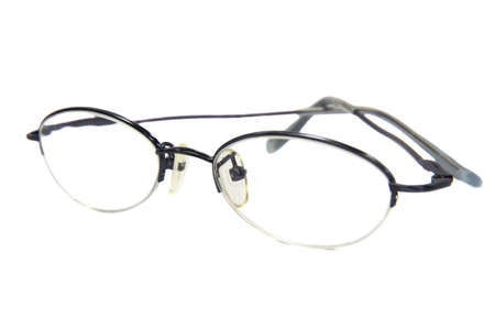 Glasses modern style on a white  photo