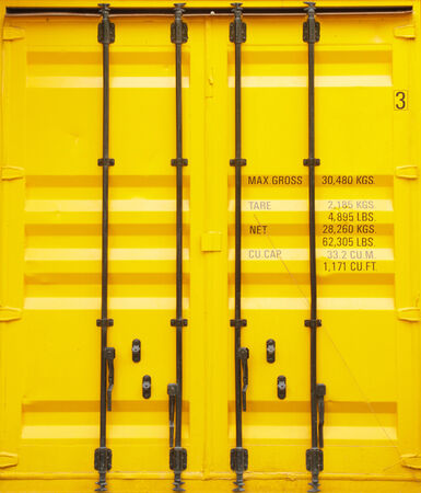 storage warehouse: Yellow container for a large max gross 30,480 kgs.