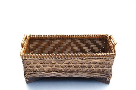 Basket bamboo handmade Thai style  photo