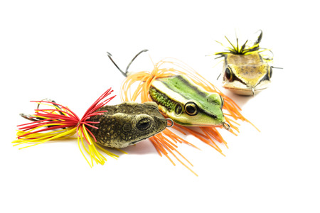 Artificial bait for fishing on white background. photo