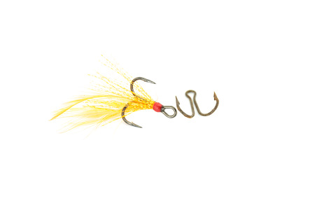 entrap: Hook for fishing on a white background.