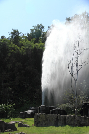 Hot spring in Fang, Chiang Mai, Thailand. Stock Photo