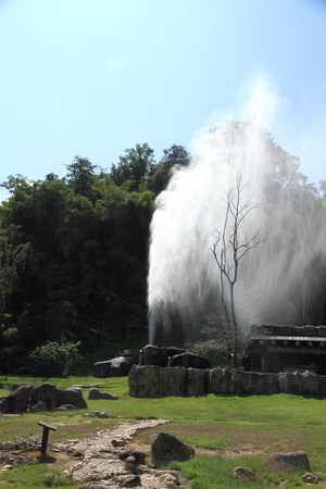 fang: Hot spring in Fang, Chiang Mai, Thailand. Stock Photo