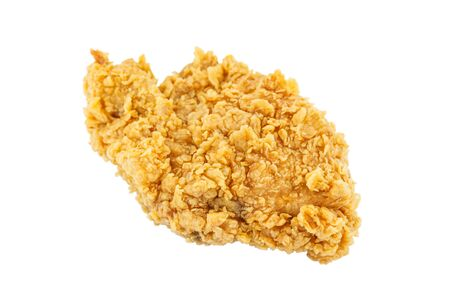 Breast chicken fried on a isolated background.