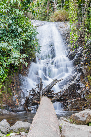 namtok: Sirithan  Waterfall or Namtok Siriphum, Chom thong, Chiang mai, Thailand. Stock Photo