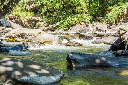 namtok: Vachirathan Waterfall or Namtok Vachirathan, Chom thong, Chiang mai, Thailand. Stock Photo