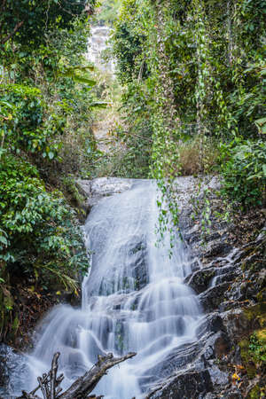 namtok: Sirithan  Waterfall or Namtok Siriphum, Chom thong, Chiang mai, Thailand. Stock Photo