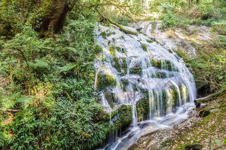 Waterfall in Kew Mae Pan Nature Trail, Doi Inthanon National Park, Chiang mai, Thailand. photo