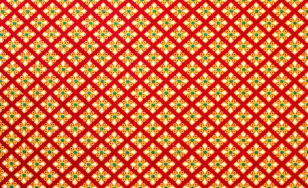 Thailand pattern design made fabric and silk. photo