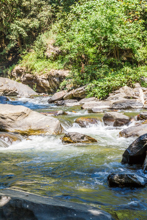 Vachirathan Waterfall or Namtok Vachirathan, Chom thong, Chiang mai, Thailand. photo