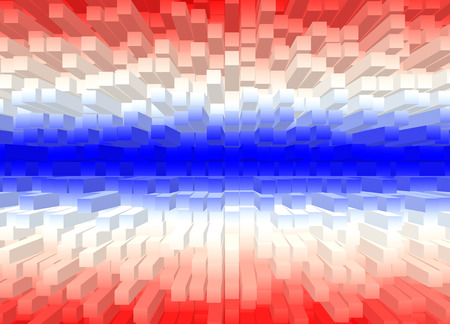 Square shape color flag of Thailand. Abstract color background. photo
