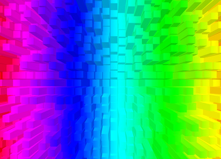 Square shape multicolor rainbow. Abstract color background.