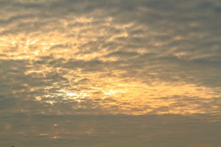 Altocumulus cloud fluffy light on sunset sky beautiful in nature.