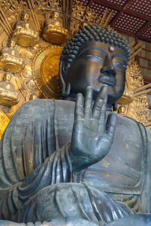 Daibutsu-den, The Big Black Buddha statue at Todaiji Temple, Nara Prefecture is one of the 3 Big Buddha in Buddhism in Japan.