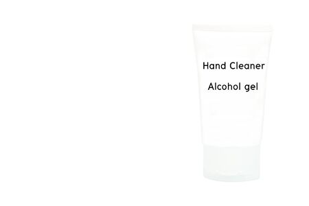 Alcohol gel for hand washing to prevent viruses or coronavirus or covid-19 isolated on white background with copy space and clipping path in picture. Stock fotó