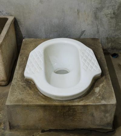 latrine: The old squatting latrines in thailand