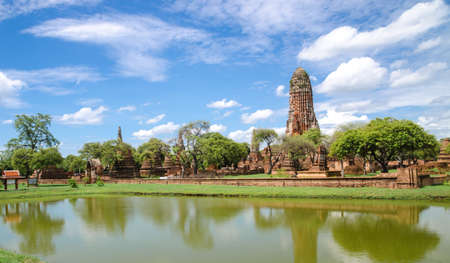historic sites: Ayutthaya old temple.The historic sites in Thailand