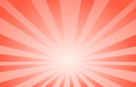 sfondo rosso linea astratta in stile cartone animato. Grande Boom o illustrazione vettoriale della luce solare. Vettoriali