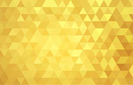 geometric abstract gold yellow triangle vector .background texture . Ilustración de vector
