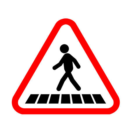traffic icon pedestrian crossing  vector