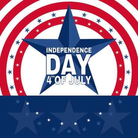 happy Fourth of July Independence Day. Vector illustration background  - Vector