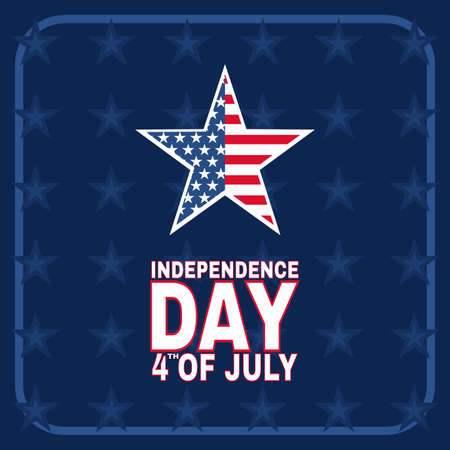 Happy fourth of July independence day of America illustration background. - Vector