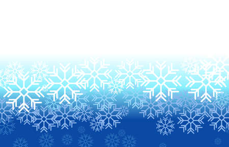 Winter background with white snowflakes on blue backdrop. Vector illustration.frozen snow with place for text.