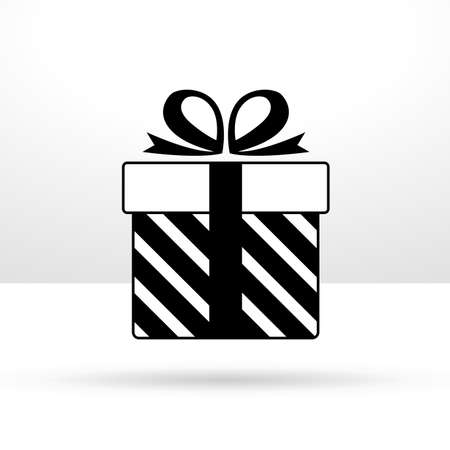 silhouette of gift box present isolated icon vector illustration design