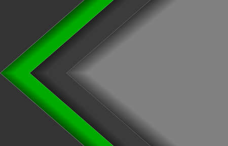 abstract  background black,green,grey line arrow triangle  vector illustration. 矢量图像