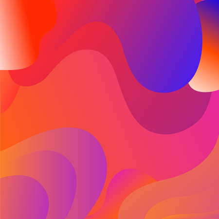 background geometric Fluid shapes colorful.vector