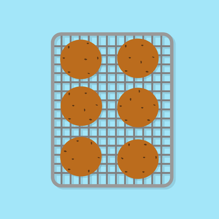 vector illustration of baking cookies