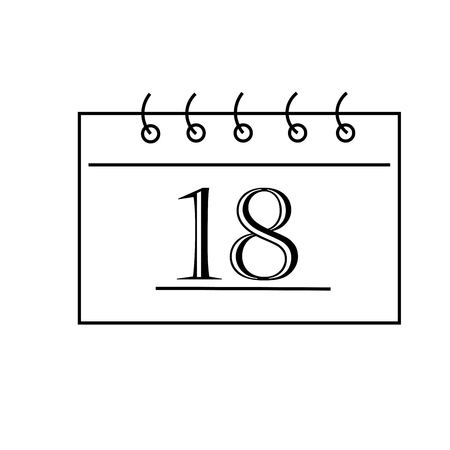 valentineday: calendar icon Illustration