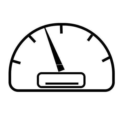 middle speed speedometer Illustration