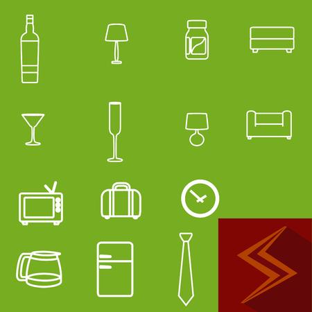 Household icon set 向量圖像