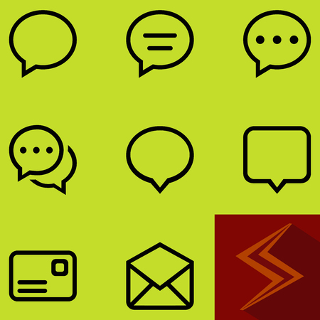 Messages icon set